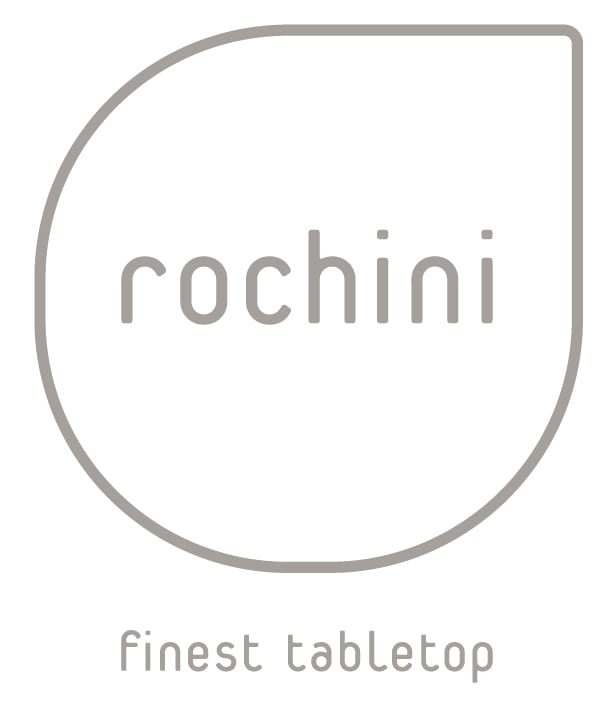 Logo Rochini Zusatz Lobmeyr   the perfect balance of shape and function.