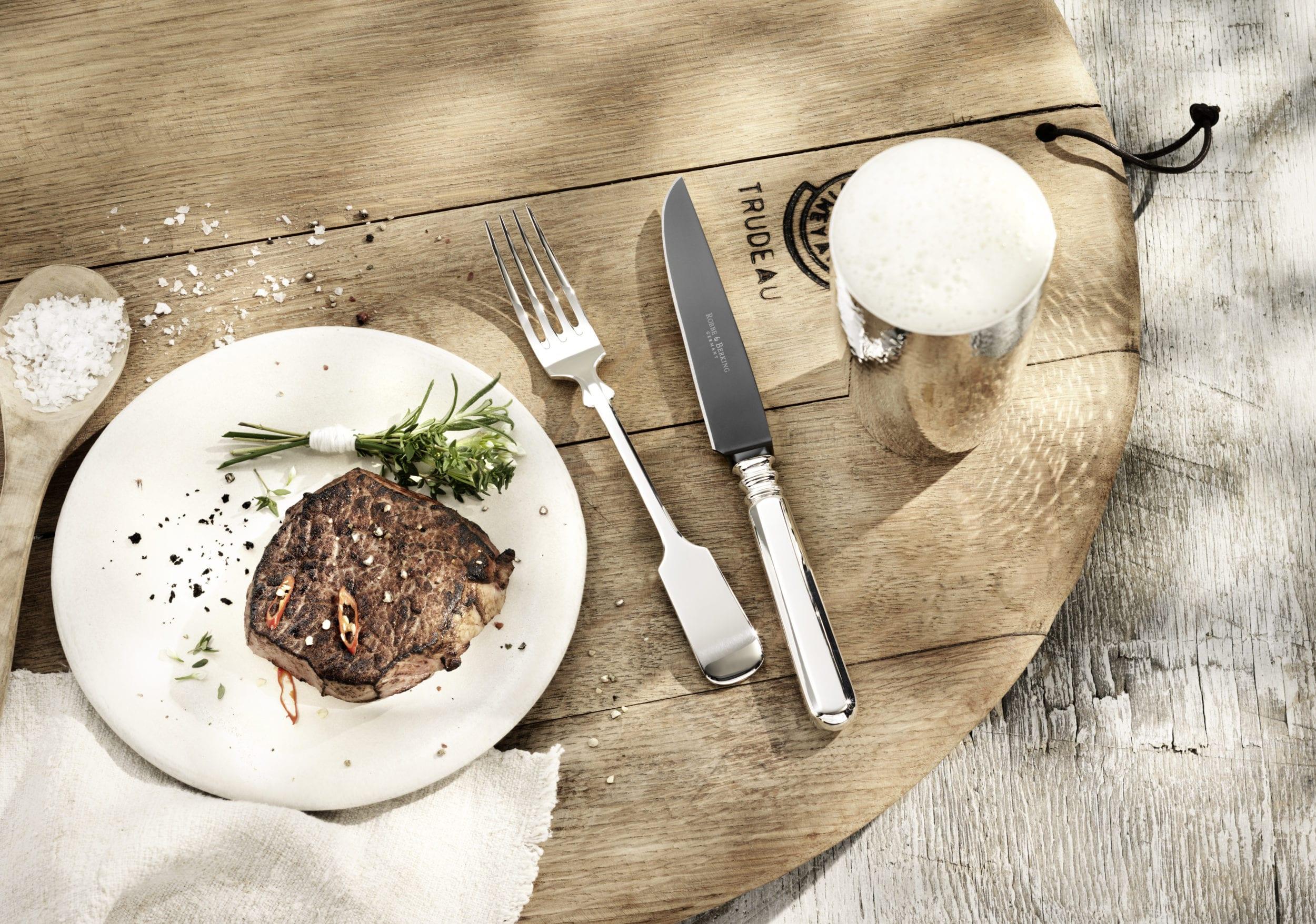 Alt Spaten Steakbesteck   Steak cutlery STYLISH BARBECUE