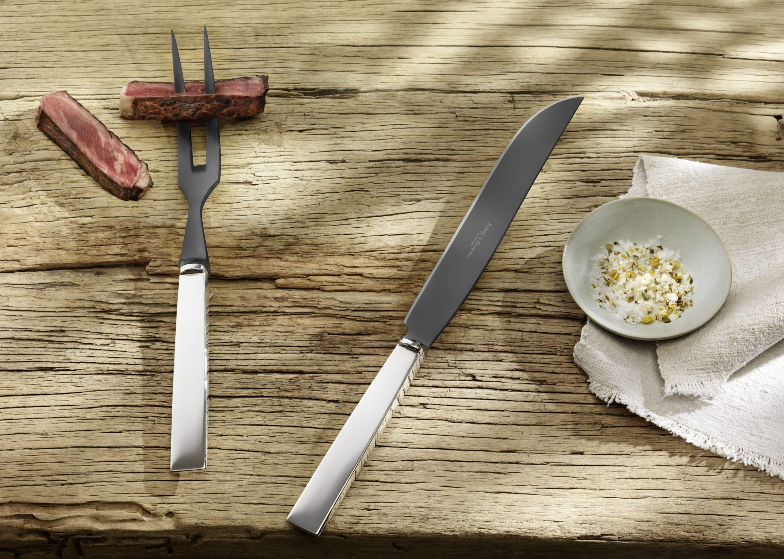 Riva Tranchierbesteck Carving cutlery STYLISH BARBECUE