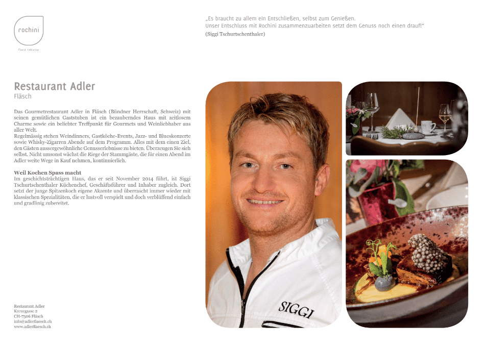 Adler OUR REFERENCEBOOK   passion   unique concept   friends   culinary world   enthusiasm