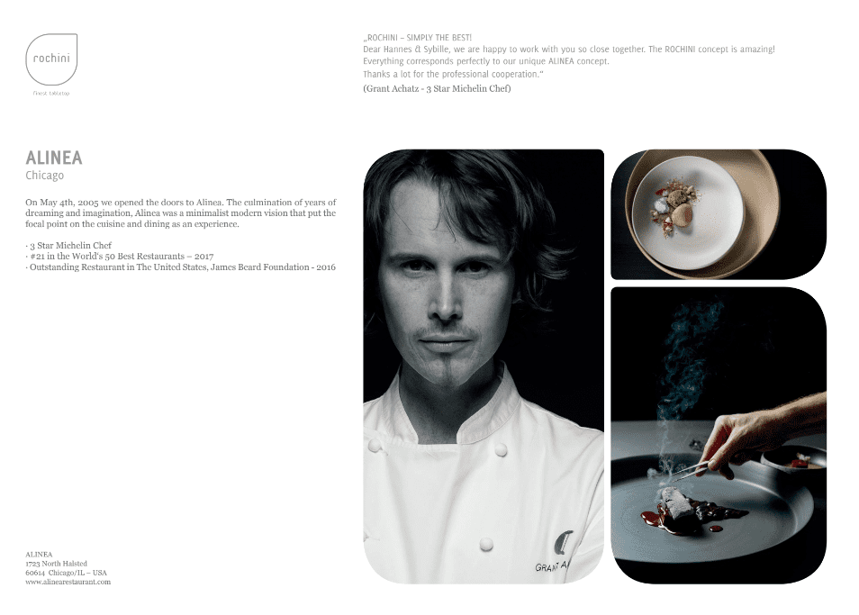 Alinea OUR REFERENCEBOOK   passion   unique concept   friends   culinary world   enthusiasm