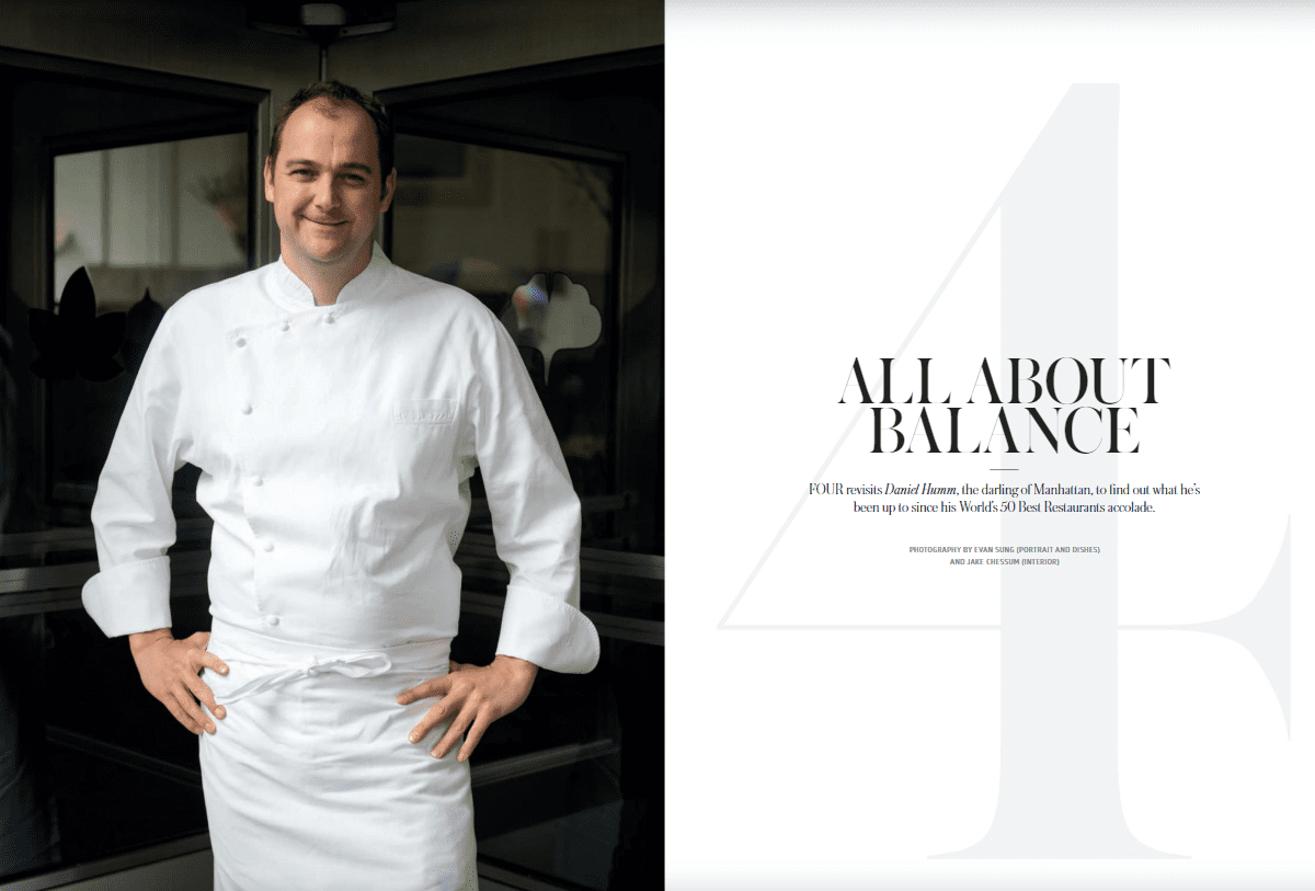 Daniel Humm FOUR Lifestyle meets Rochini