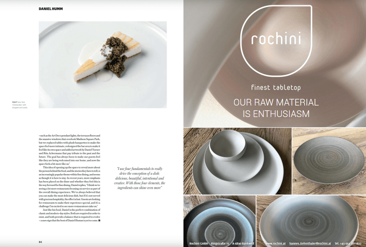 Daniel Humm1 FOUR Lifestyle meets Rochini
