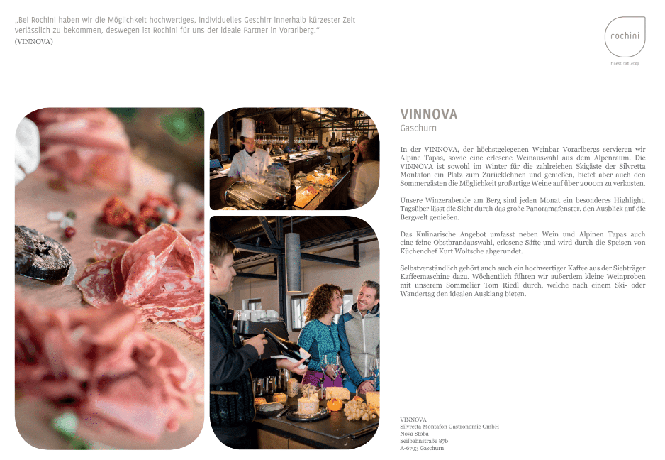 Vinnova OUR REFERENCEBOOK   passion   unique concept   friends   culinary world   enthusiasm