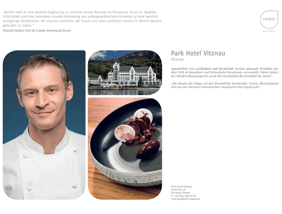 Vitznau OUR REFERENCEBOOK   passion   unique concept   friends   culinary world   enthusiasm