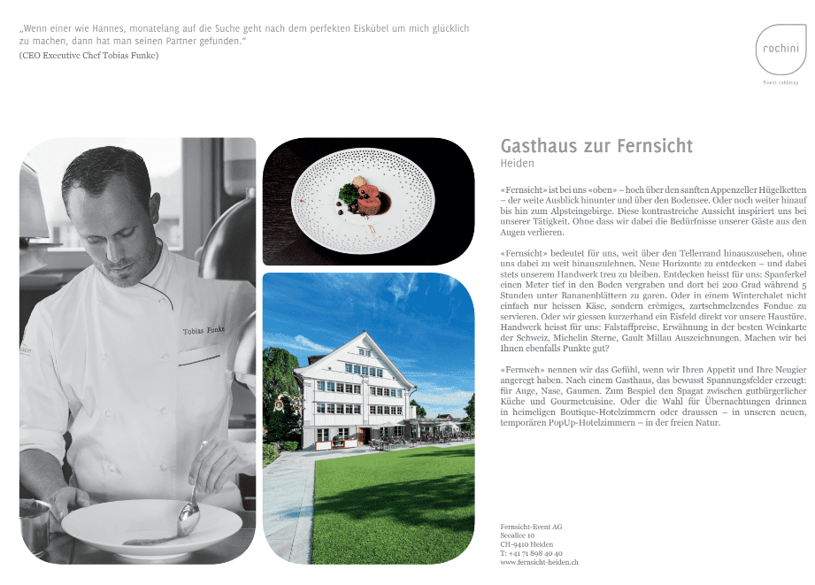 Zur Fernsicht OUR REFERENCEBOOK   passion   unique concept   friends   culinary world   enthusiasm