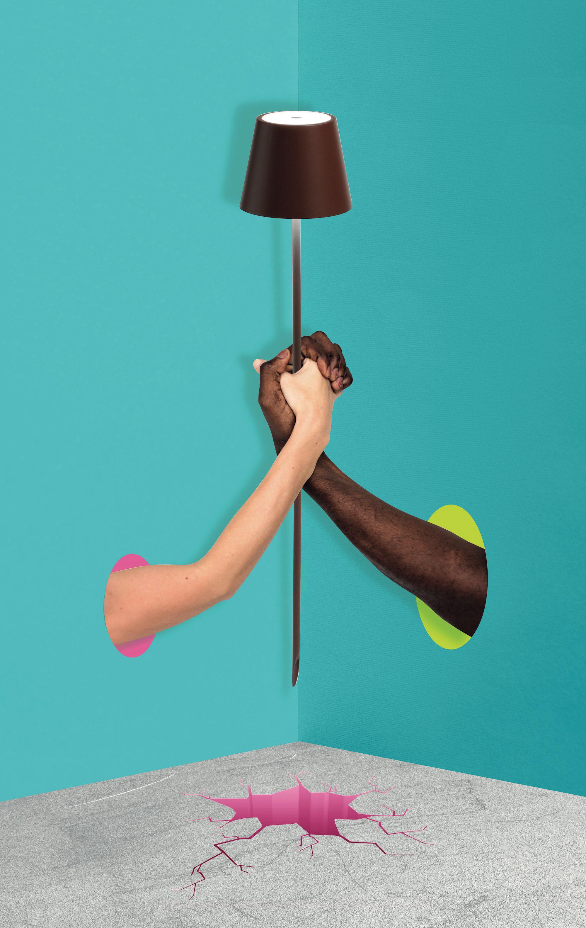 AiLati Poldina floor CORTEN Lampe a´porter