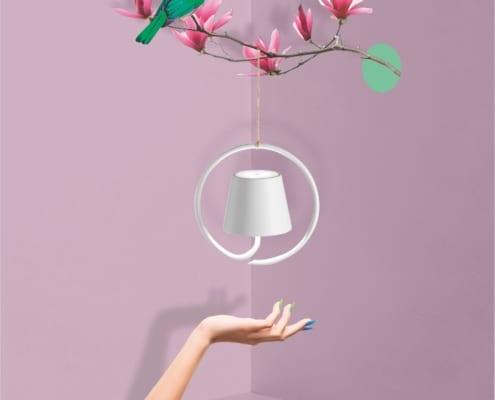 AiLati Poldina hanging WHITE 495x400 Lampe a´porter