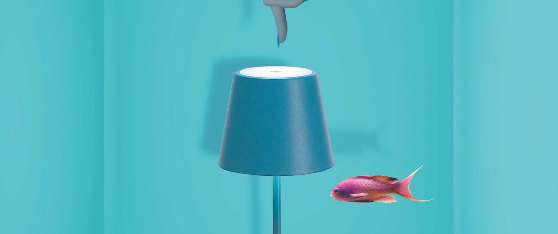 AiLati Poldina table BLUE 1500x630 Lampe a´porter