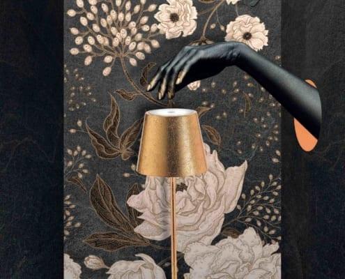 AiLati Poldina table GOLD 495x400 Lampe a´porter