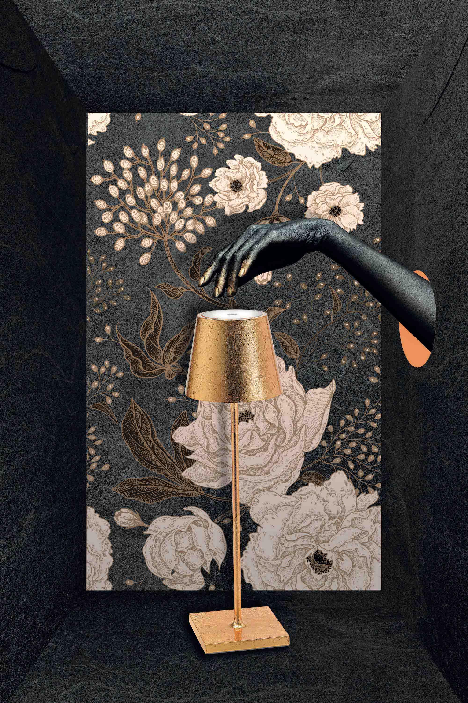 AiLati Poldina table GOLD Lampe a´porter