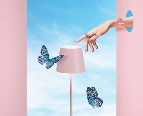 AiLati Poldina table PINK 495x400 Lampe a´porter