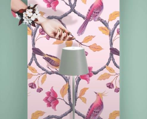 AiLati Poldina table SAGE 495x400 Lampe a´porter