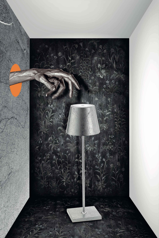 AiLati Poldina table SILVER Lampe a´porter