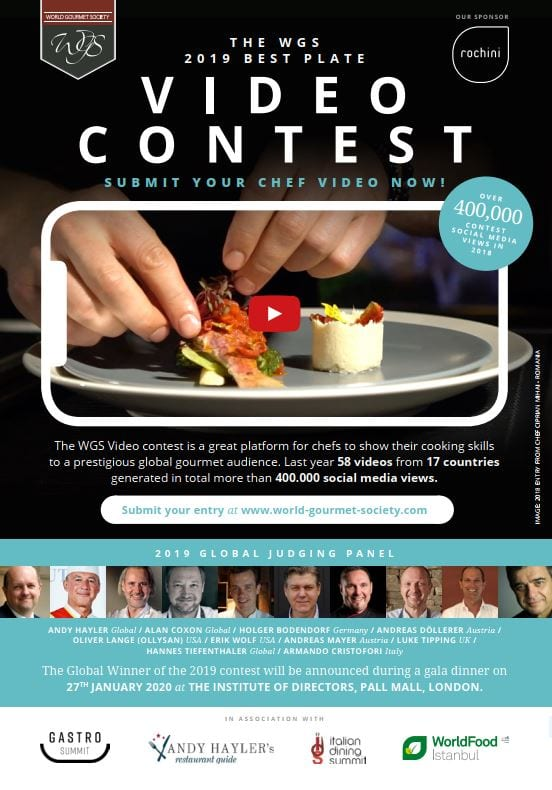wgs4 THE WORLD GOURMET SOCIETY BEST PLATE CHALLENGE 2019