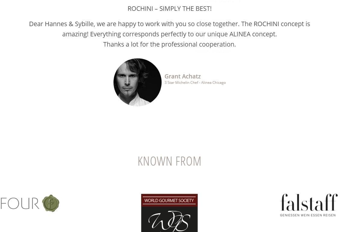 8 Rochini Connoisseur Sets