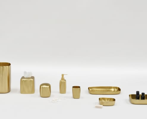 Lookbook Spring 2021 p20 Brushed Brass Bath Collection 495x400 Spa