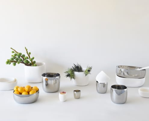 Lookbook Spring 2021 p25 Stainless and resin square bowls and vessels 495x400 Spa